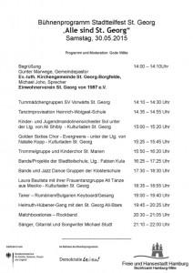 Programm Stadtteilfest